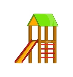 Slide house icon cartoon style vector