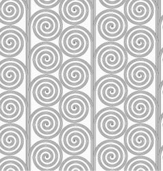 Slim gray striped spirals forming tree vector