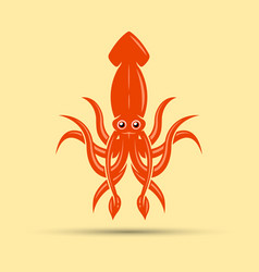 squid colored isolated vector image