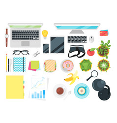 stationery and various office things vector image