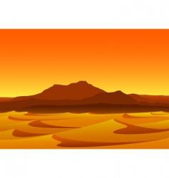Sunset in desert vector