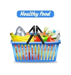 Supermarket Shopping Basket vector