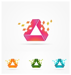 Technology Rectangle Logo vector image