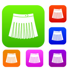tennis female skirt set collection vector image