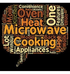 Two In One In Microwave Oven text background vector