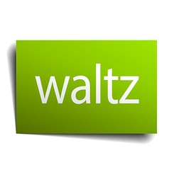 Waltz square paper sign isolated on white vector