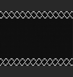 charcoal black knitted background with weavy vector image