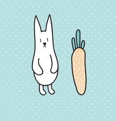 standing rabbit vector image
