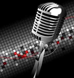 vintage mic vector image vector image