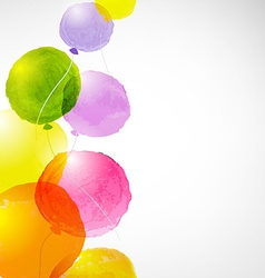 Watercolor Balloons vector image vector image