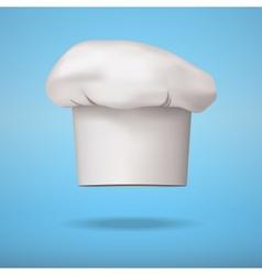 White chef cap toque vector image