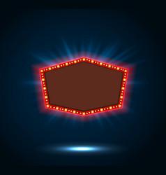 shining blue retro billboard vector image