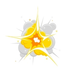 single explosion vector image