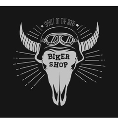 skull bull Design element in vector image vector image