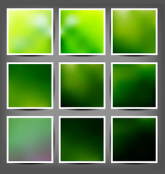 Smooth colorful backgrounds collection with aged vector image vector image