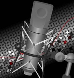 studio mic vector image vector image