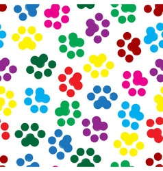traces of the animal seamless pattern vector image