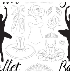 Hand drawn Ballet pattern vector image vector image