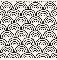 Monochrome minimalistic seamless pattern with arcs vector