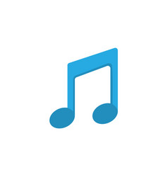 musical flat icon symbol premium quality isolated vector image vector image