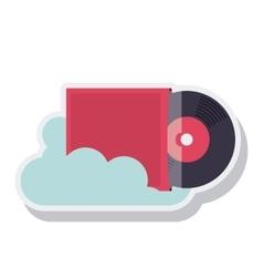 retro music vinyl isolated icon vector image