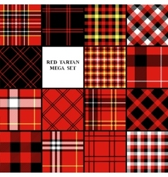 Scottish traditional tartan fabric seamless vector image