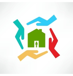 The concept of safe houses vector image vector image