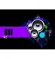 musical banner vector image vector image