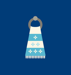 towel flat icon on blue background vector image vector image