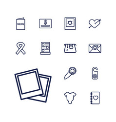 13 card icons vector