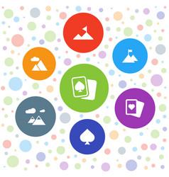 7 peak icons vector