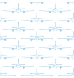 aeroplane seamless pattern vector image