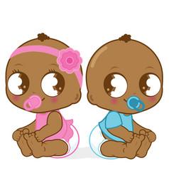African american babies vector