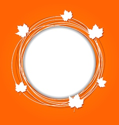 Autumn round frame with leaves maple vector image