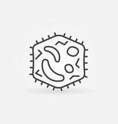 Bacteria line icon virology outline symbol vector