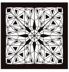 Bandana pattern stained glass design vector
