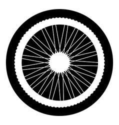 Bicycle wheel button vector image