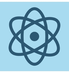 Blue atom aof science design vector