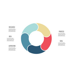 business infographics pie chart with 5 sections vector image