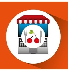 Cherry online shopping app vector