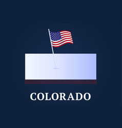 colorado state isometric map and usa natioanl vector image