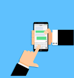 Communicate in messenger using phone vector