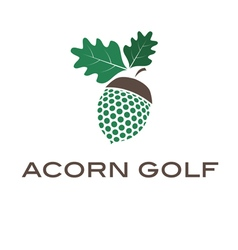 Concept acorn golf vector