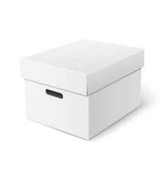 cubic box template vector image