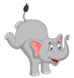 Cute elephant cartoon vector