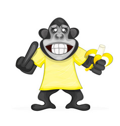 cute monkey icon vector image