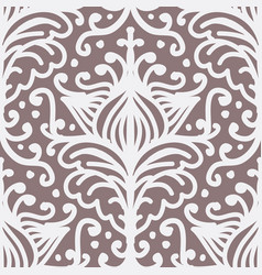 damask filigree flourish curl shabchic pattern vector image