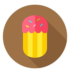 Easter Cake Bakery Circle Icon vector image
