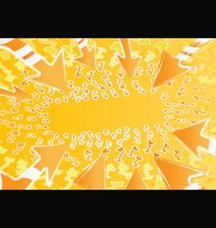 funky arrows vector image