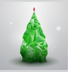 Glassy Christmas Tree vector